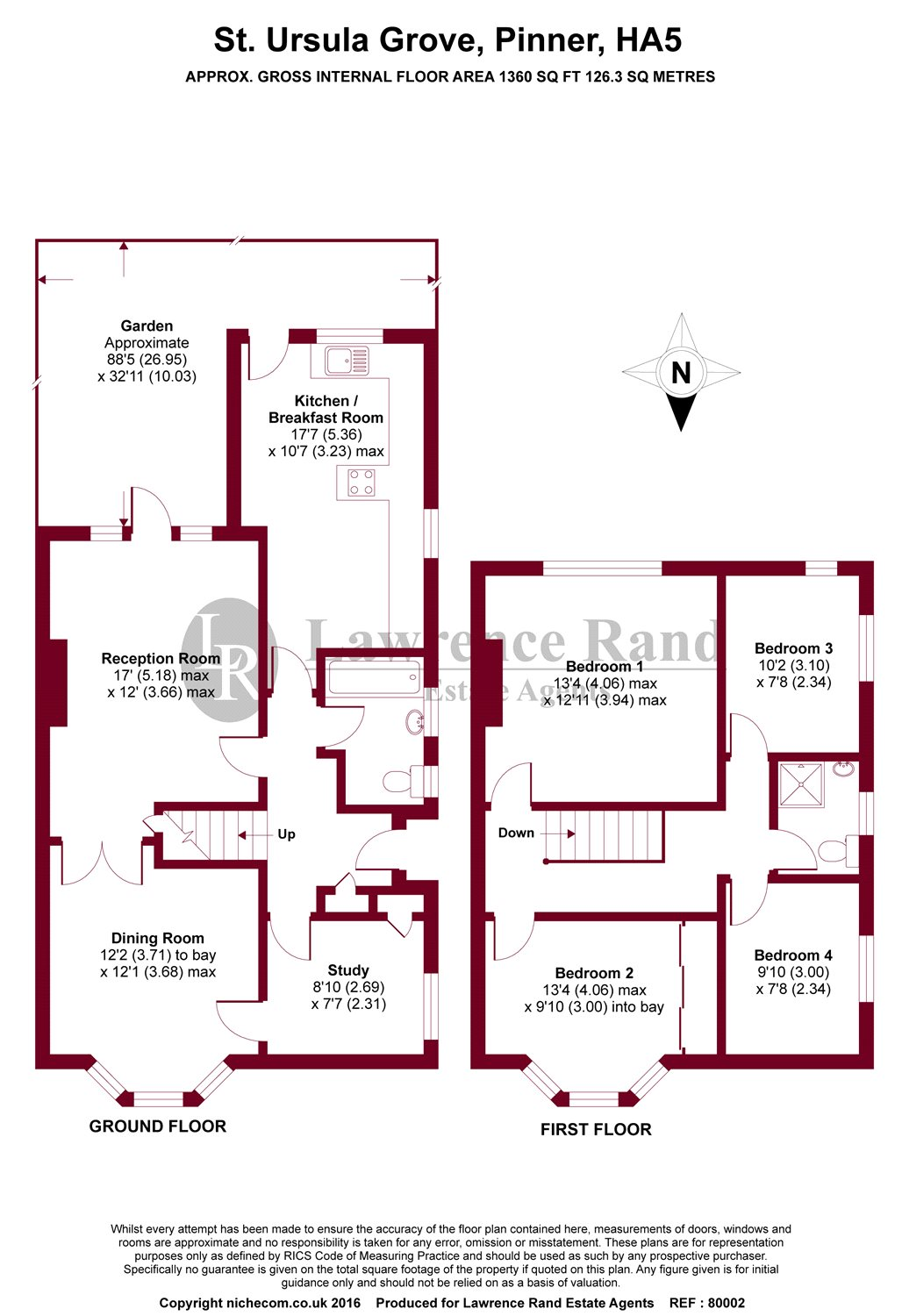 Floorplans For St. Ursula Grove, Pinner, Middlesex, HA5