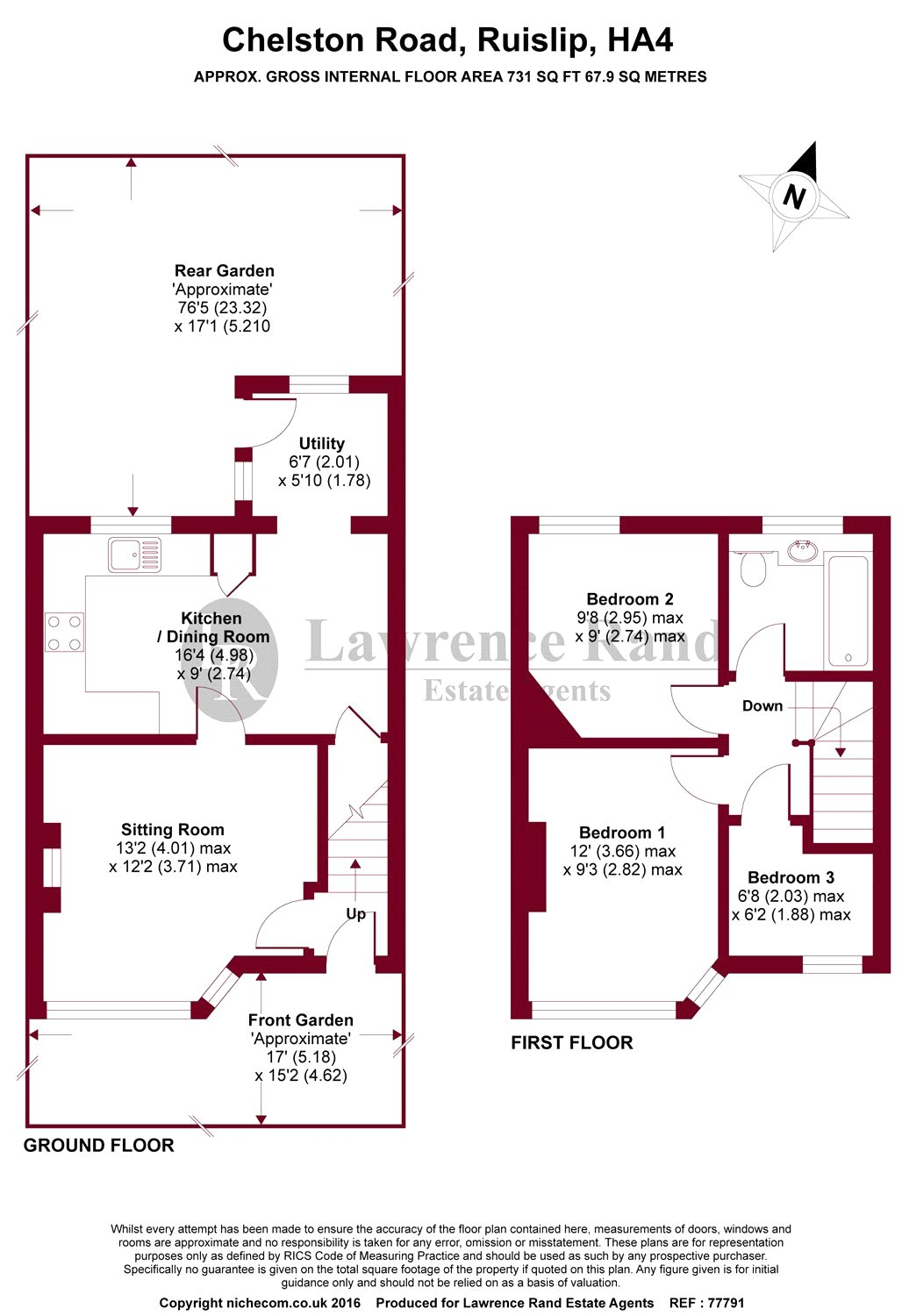 Floorplans For Chelston Road, Ruislip, Middlesex, HA4