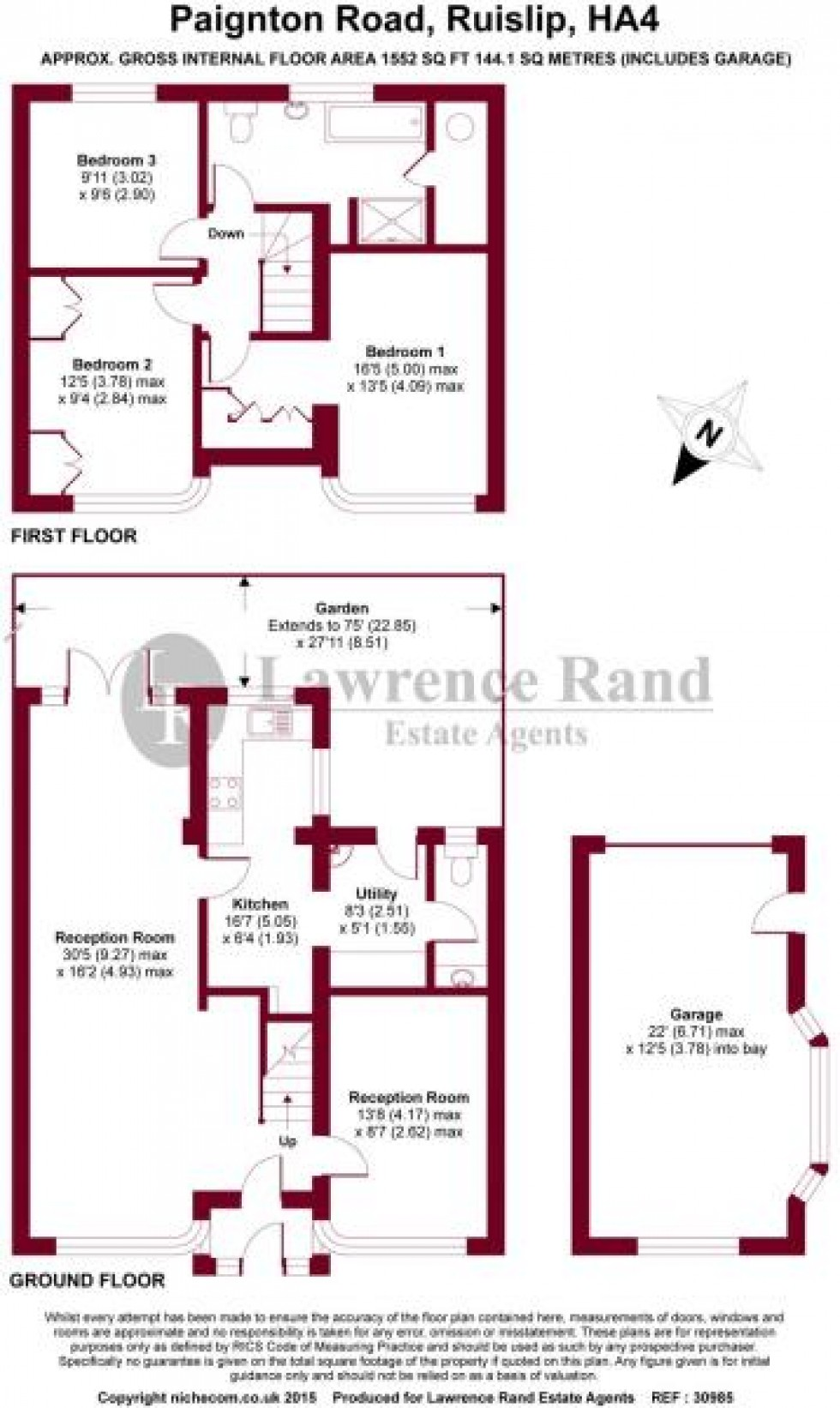 Floorplan for Paignton Road, Ruislip, Middlesex, HA4