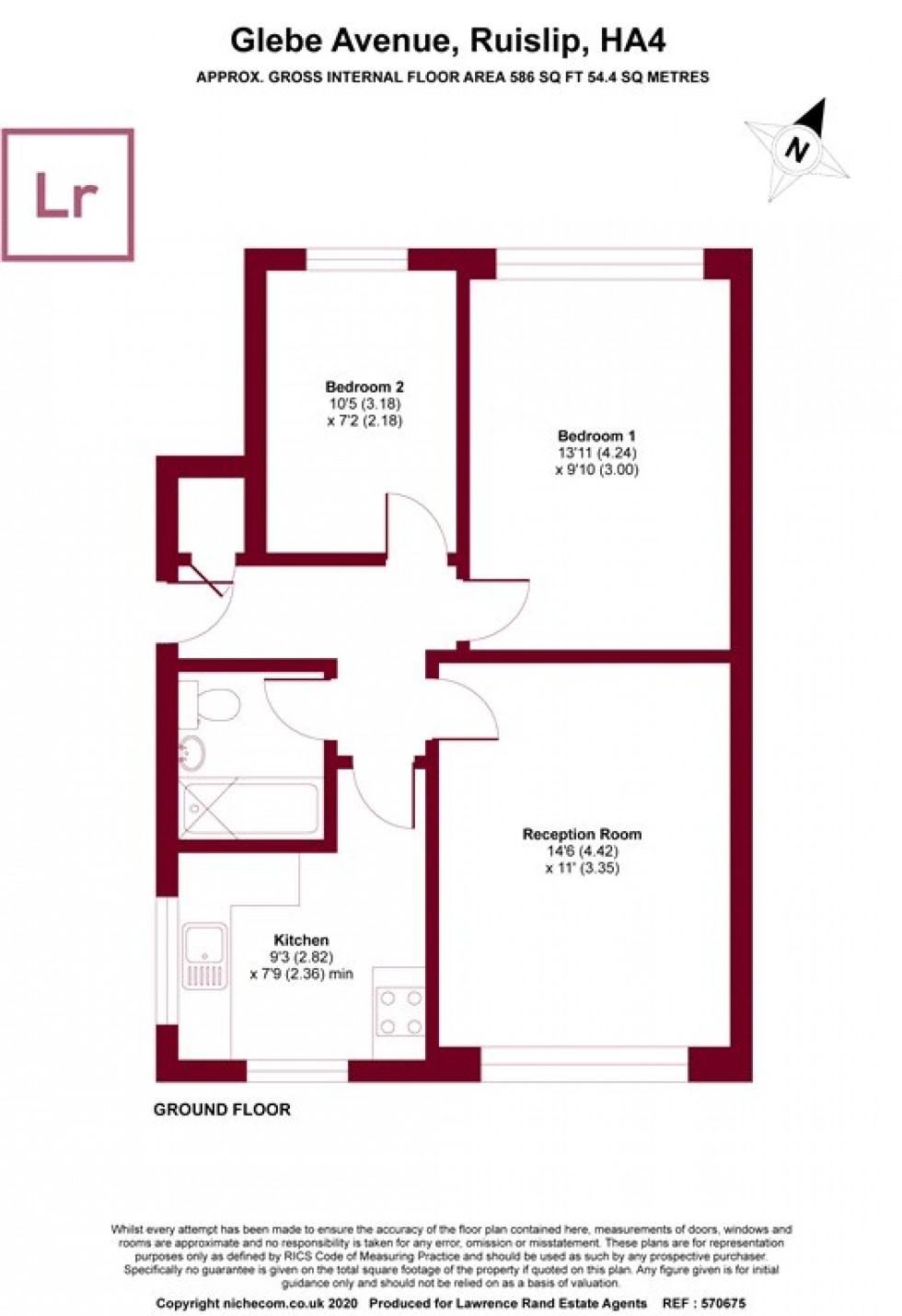 Floorplan for Glebe Avenue, Ruislip, Middlesex, HA4