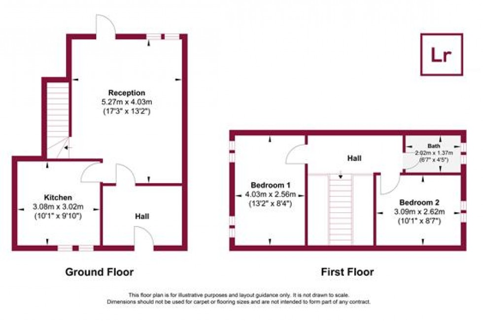 Floorplan for Stowe Crescent, Ruislip, Middlesex, HA4