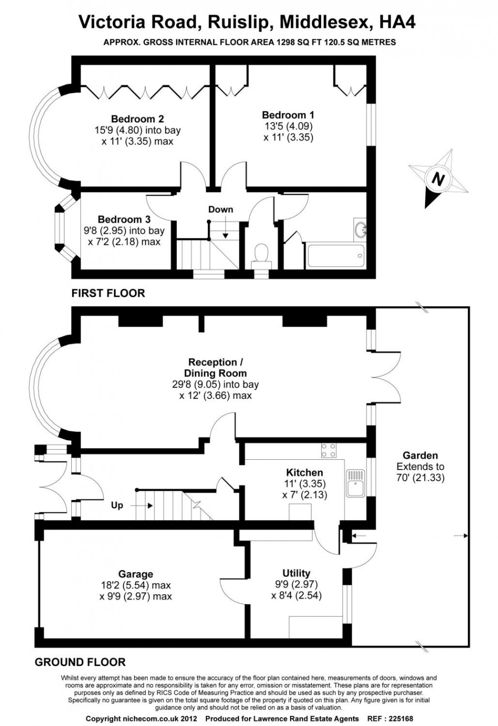 Floorplan for Victoria Road, Ruislip, Middlesex, HA4