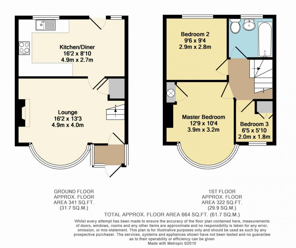 Floorplan for Brixham Crescent, Ruislip, Middlesex, HA4