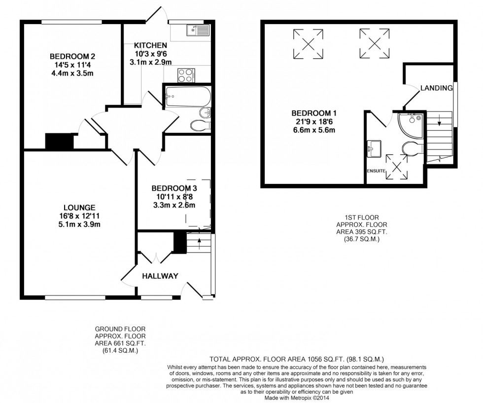 Floorplan for Wiltshire Lane, Pinner, Middlesex, HA5