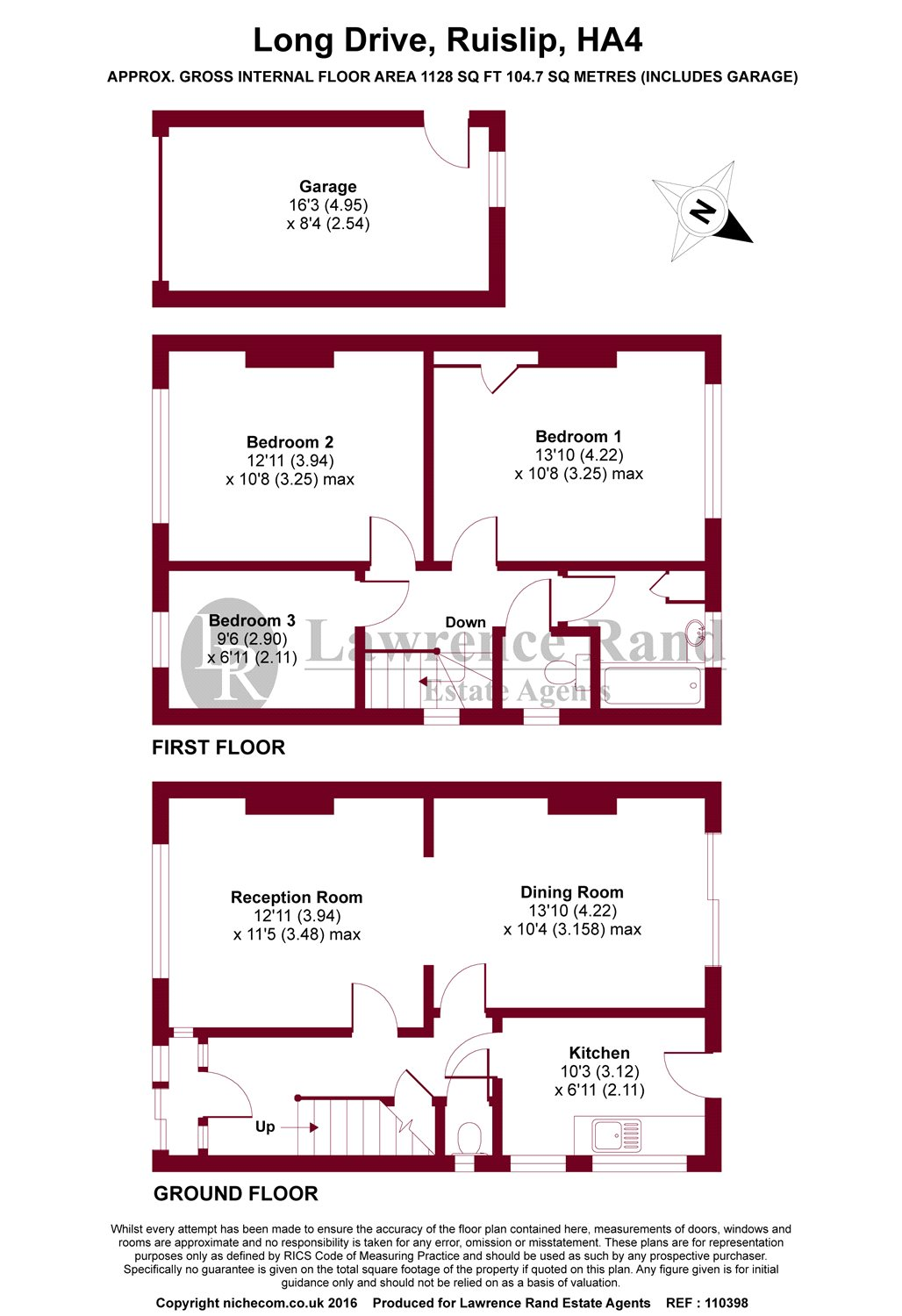 Floorplans For Long Drive, Ruislip, Middlesex, HA4