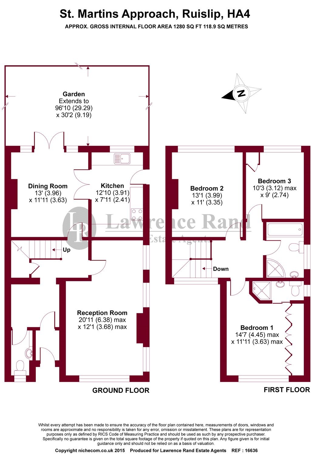 Floorplans For St. Martins Approach, Ruislip, Middlesex, HA4