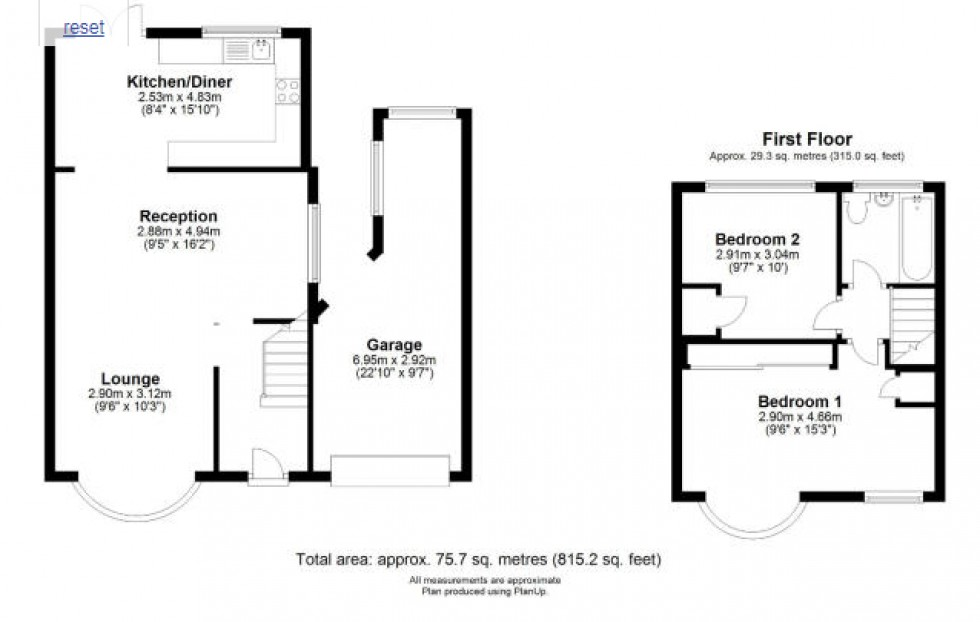 Floorplan for Hartland Drive, Ruislip, Ruislip, HA4