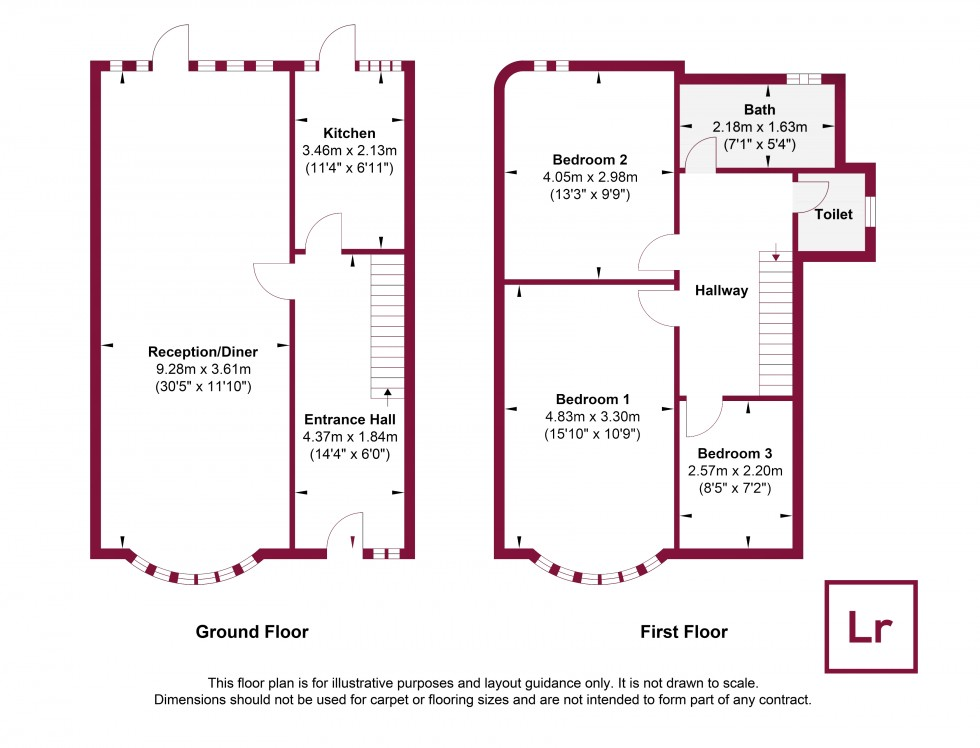 Floorplan for Cornwall Road, Ruislip, Middlesex, HA4