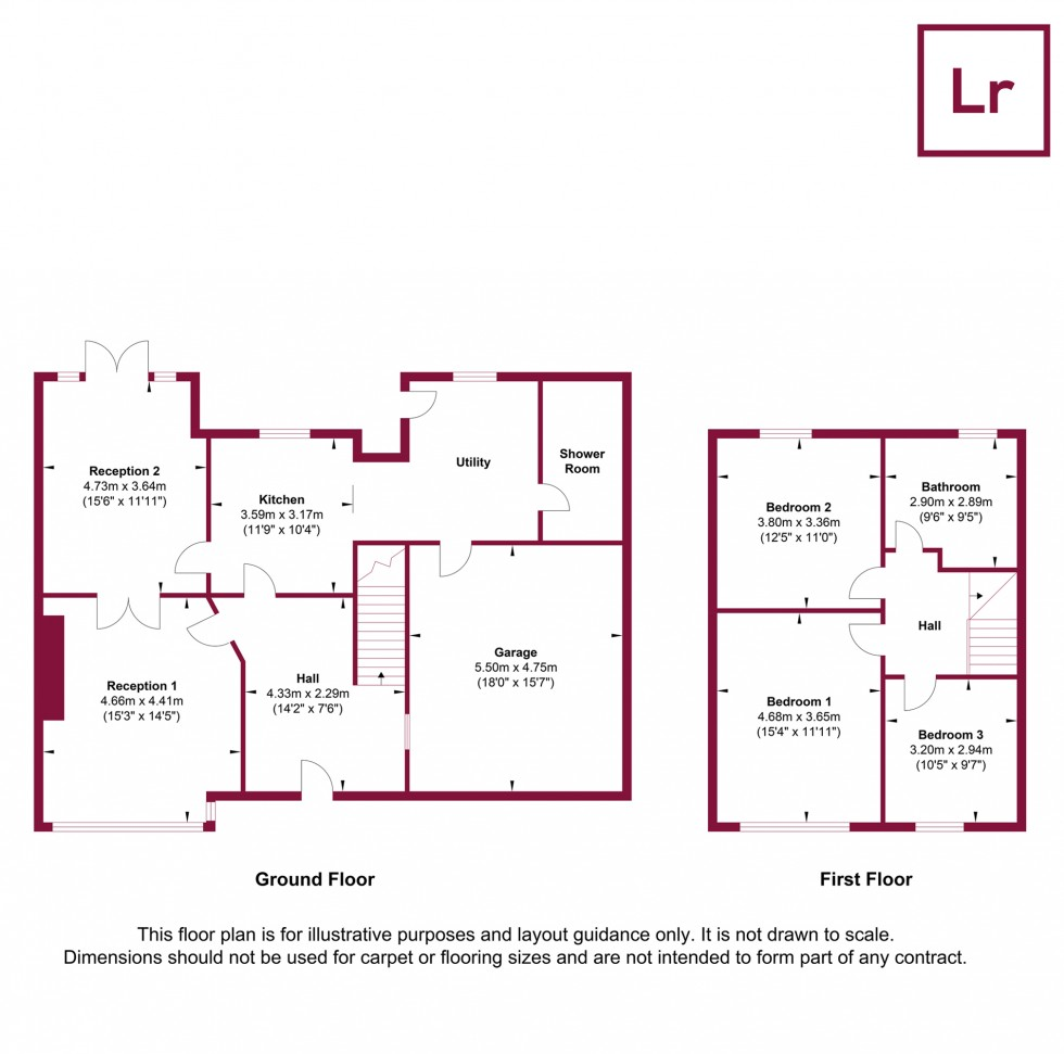 Floorplan for Hawthorne Avenue, Ruislip, Middlesex, HA4