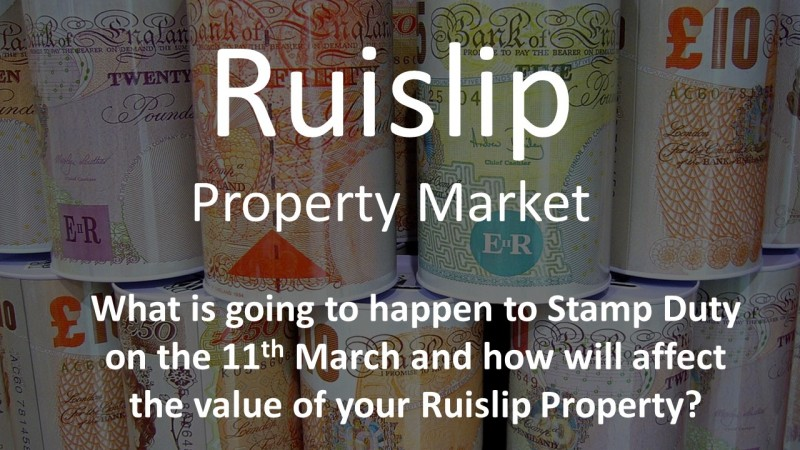 What is going to happen to Stamp Duty on 11th March?