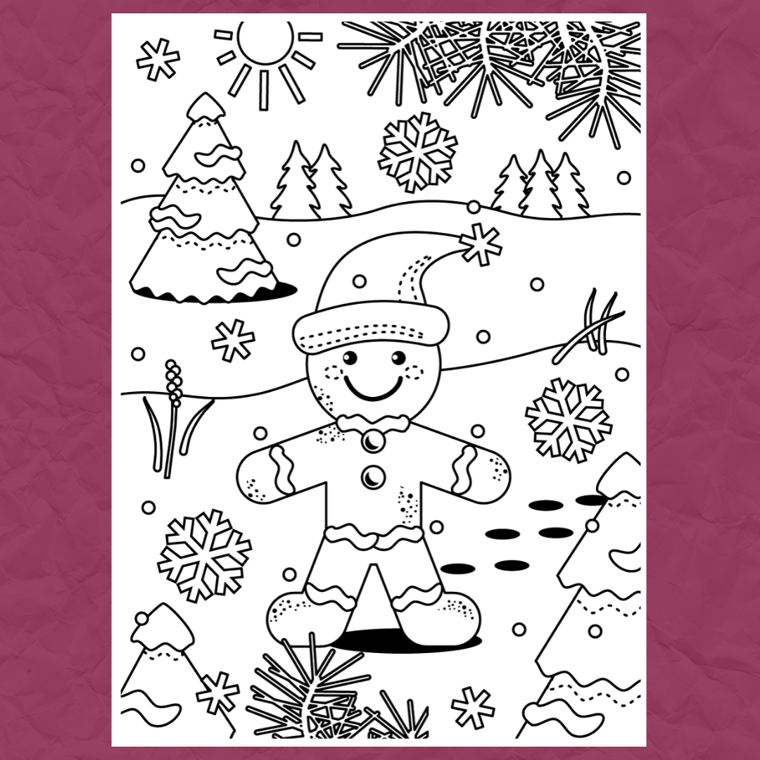 Christmas Colouring Template 4