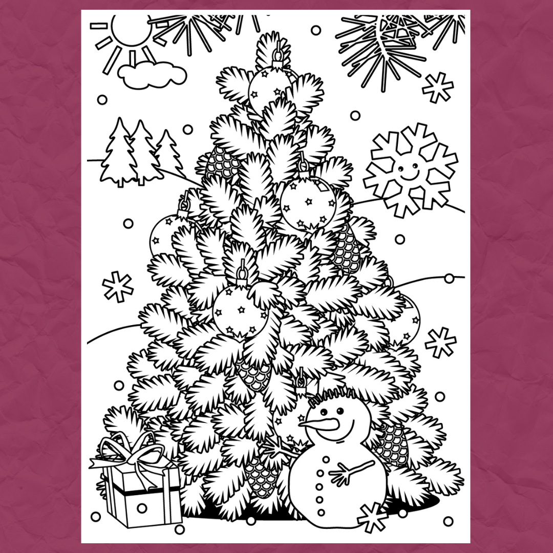 Christmas Colouring Template 3