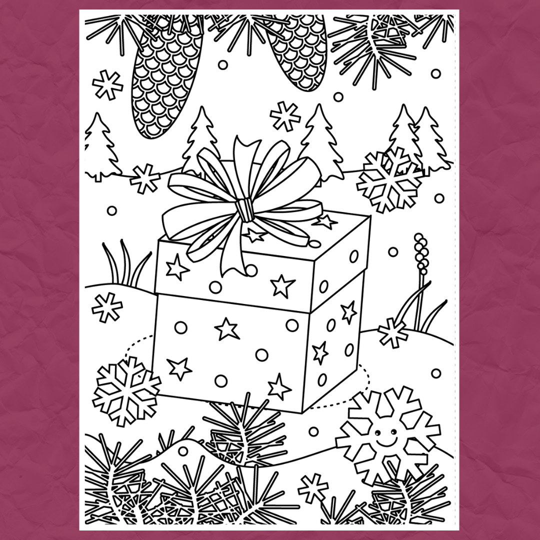 Christmas Colouring Template 2