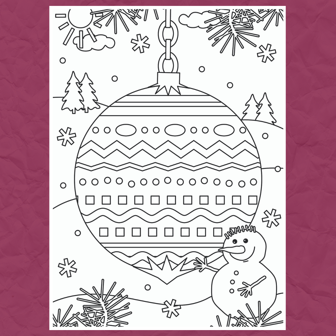 Christmas Colouring Template 1